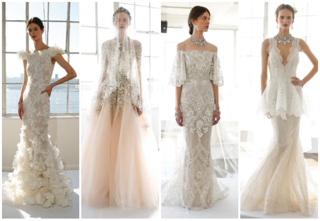 tendencias en vestidos de novia 2017: oscar de la renta, reem acra