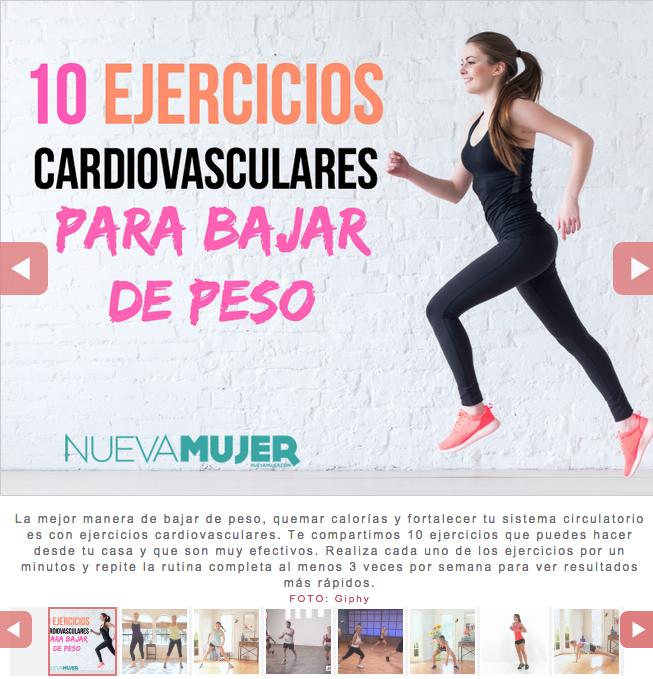 Como bajar de peso con ejercicios cardiovasculares en